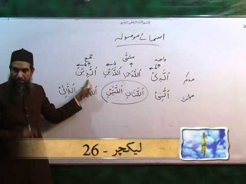 Arabic Course by Sheikh Aamir Sohail Lecture 26 (Urdu)