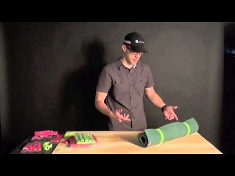 Yoga Mat Trick with SoftWraps (hook and loop straps) - Softride Bike Racks