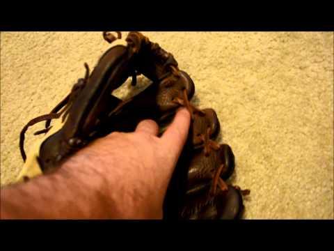 Mizuno GFN1153 Baseball Glove Relace - Before and After Glove Repair