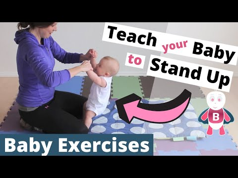 Baby Playtime Exercises #3-6 Months - Sit Up - Stand Up - Baby Activities, Baby Development