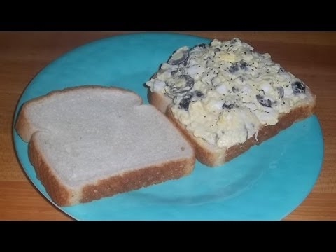 Egg and Olive Spread-An Easy Egg Salad Sandwich Recipe
