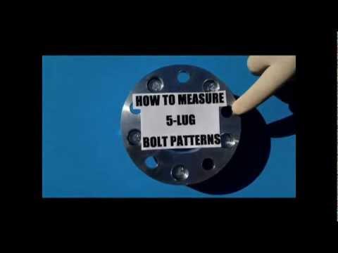 How to measure a 5 lug wheel bolt pattern