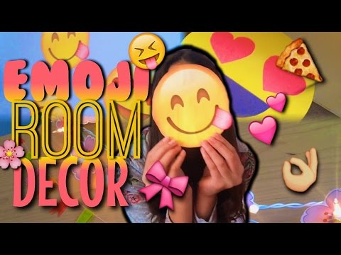 DIY EMOJI ROOM DECOR😍💕😂 (emoji lights, emoji wall stickers, & emoji table) | Smilelydaisy
