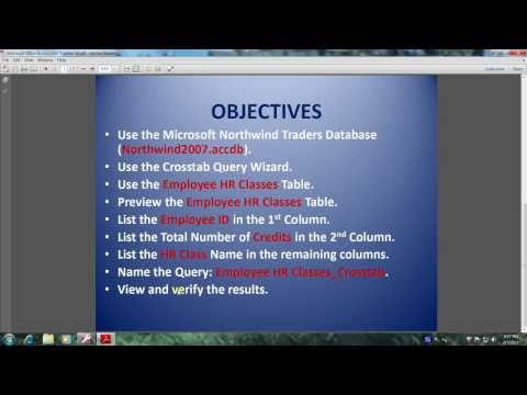 Access 2007 Tutorial 32 How To Create a Crosstab Query