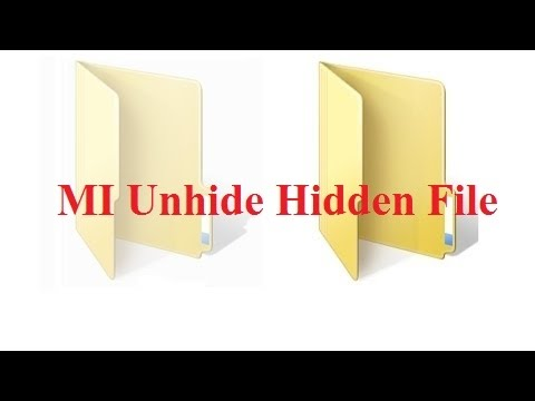Unhide an Hidden File On MI Or Xiamoi Note 2 / 3 / 4 Mobile Phone