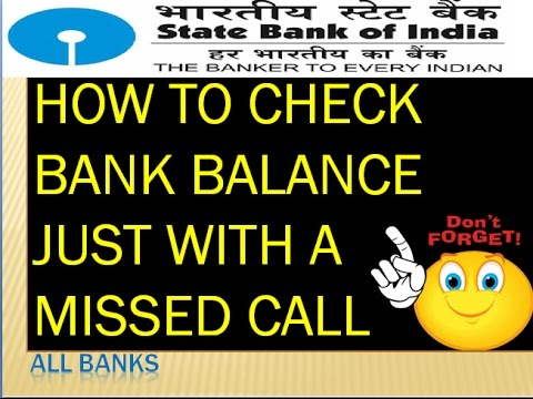 How to check your Bank balance via missed call in telugu