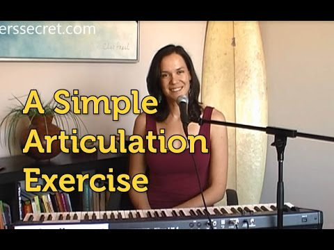 A simple articulation exercise to reduce mumbling in singing