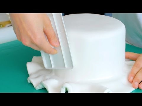 How to cover a cake in fondant icing   Cake Creations
