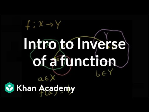 Introduction to the inverse of a function | Matrix transformations | Linear Algebra | Khan Academy