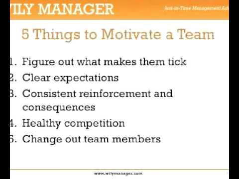 Team Motivation Activities - A 3-Minute Crash Course
