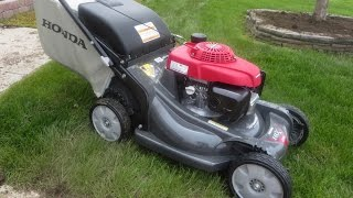 Honda Lawn Mower Unboxing and Start Up - 21'' 3-in-1 Self