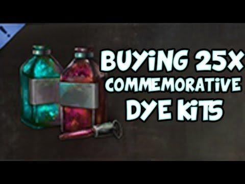 BUYING 25 COMMEMORATIVE DYE KITS! | Guild Wars 2 Gemstore Shopping #038