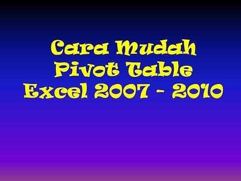 Cara Mudah Pivot Table Excel 2007 & 2010