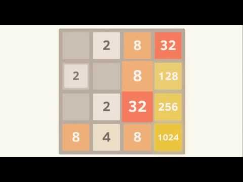 How to win 2048 Game - Example showing how to 2048 in a tile