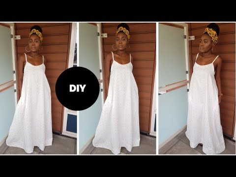 How To Make  A Maxi Dress I Beginner Sewing I Easy Sewing