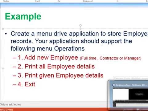 Java Object Oriented Programming Employee Example part 2