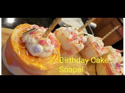 Making Birthday Cake Soaps
