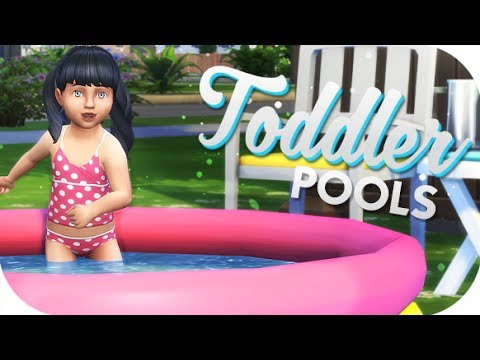 THE SIMS 4 // FUNCTIONAL CC   TODDLER POOLS, SLIDES AND SANDCASTLES!