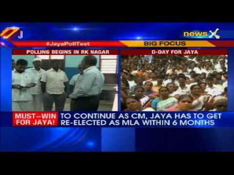 Voting begins in Tamil Nadu by-poll as Jayalalithaa eyes return to Assembly