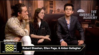 "Robert Sheehan ""Klaus"", Ellen Page ""Vanya"", Aidan Gallagher ""Five"" Netflix"