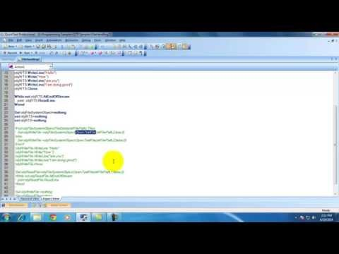 [QTP / UFT Videos] : How to write content and read content from files using QTP