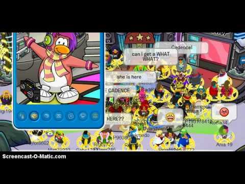 Club Penguin:Meeting Cadence At Hollywood Party 2013