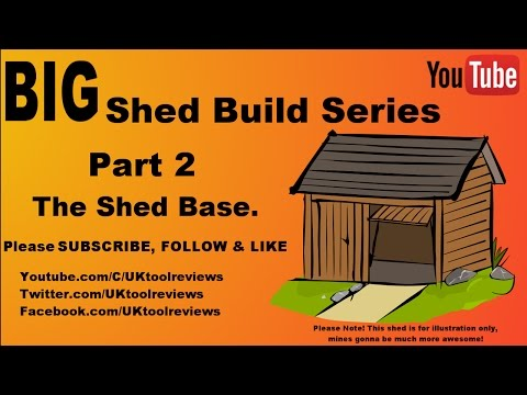 How to build a shed series. Part 2: Building a shed base. #BigShedBuild