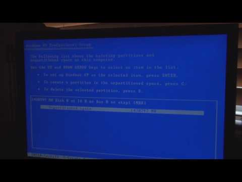 How to Install Windows XP Part 1 of 2