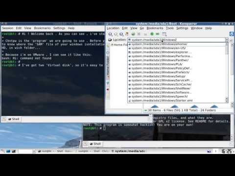'Hacking' windows (XP, Vista, 7) user accounts -- Backtrack 4.
