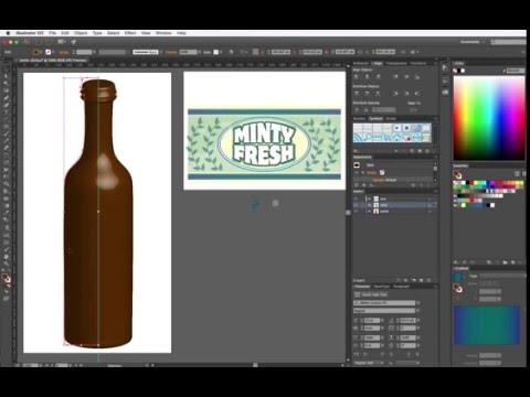 Adobe Illustrator - 3D Revolve Bottle Label
