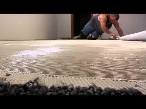 Glue adhesive.   Carpet