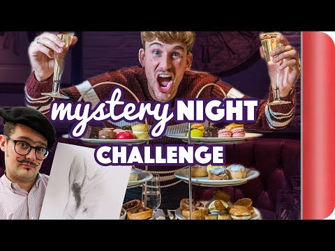 £64 Mystery Night Food Challenge - Bottomless Afternoon Tea & Life Drawing?!?