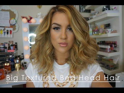 Big Textured Bed Head Hair | Long Bob