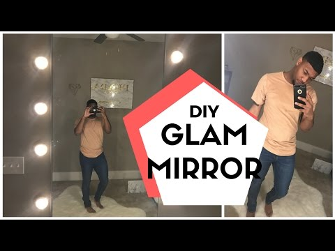 DIY WALL VANITY / FITTING ROOM MIRROR -  @AmberScholls ReMake | TrendingTrent