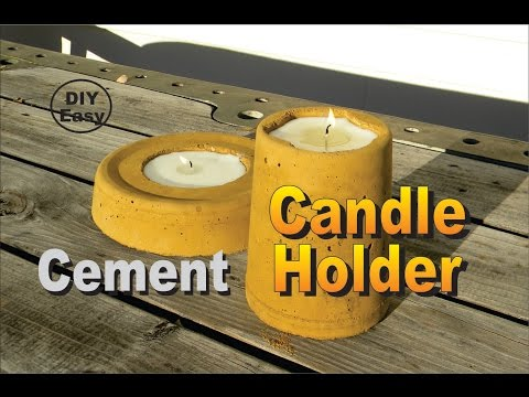 Custom Concrete Candle Holder Easy DIY How to Make Project