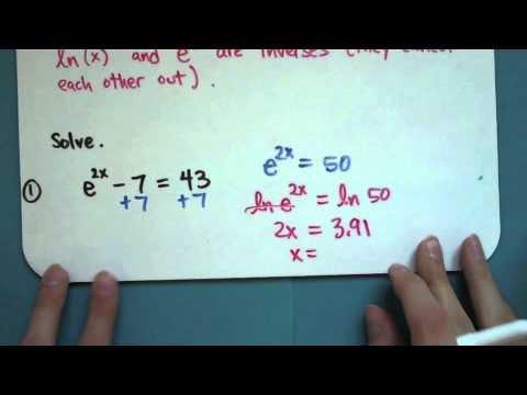 Natural Logarithms (8-5-1)