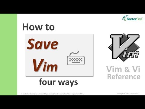 Save Vim - Learn vim save and quit with four vim commands
