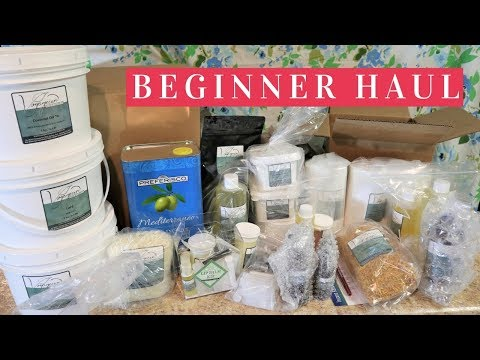 $400 SOAPMAKING SUPPLIES UNBOXING | beginner cold process soap making first order
