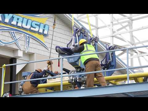 Hersheypark readies for 2018 season by installing roller coaster cars