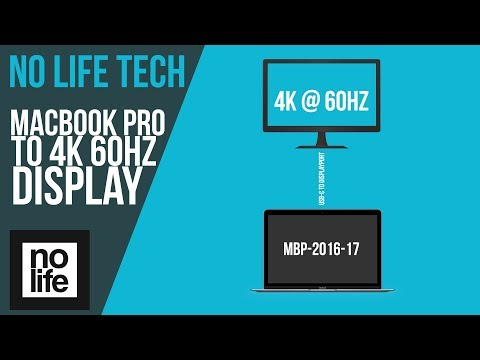 How to display 4K @ 60hz from MacBook Pro 2016/2017 [NO LIFE TECH]