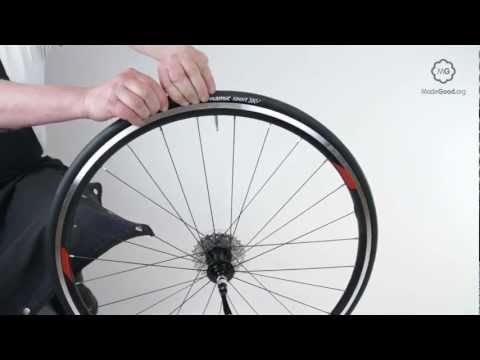 Fix A Puncture - Dismount A Bike Tyre