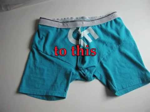 DIY Men's Boxer Briefs from T-shirt