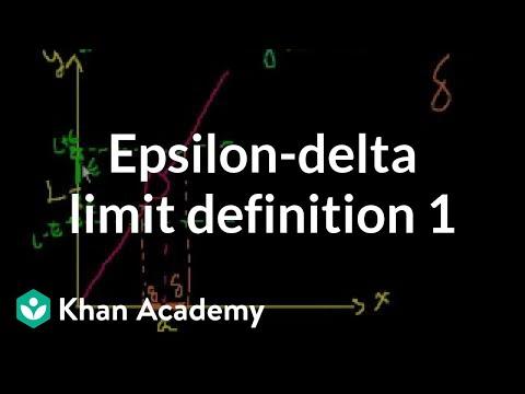 Epsilon-delta limit definition 1   Limits   Differential Calculus   Khan Academy