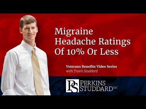 Migraine Headache VA Ratings Of 10% Less