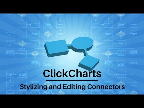 ClickCharts Software Tutorial | Stylizing and Editing Connectors