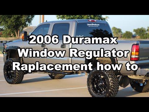 2006 GMC/Chevy Duramax Window regulator Repair and Replacement