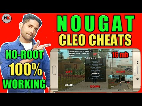 (NO-ROOT) Cleo-Cheats-for_Nougat_in Gta-SanAndreas(ALL GPU)on your Android free