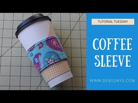 DIY Coffee Sleeve Cozy