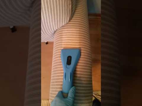 Upholstery arm cleaning