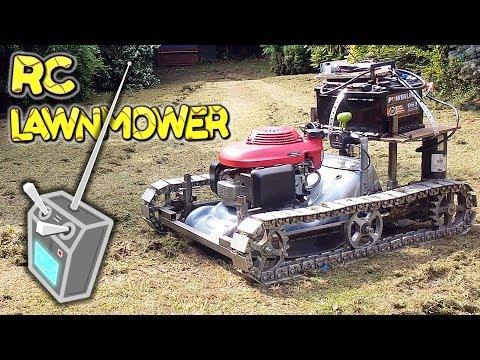 Radio Control Tank Tracks Lawn Mower build – by VegOilGuy